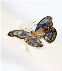 Cloisonne Butterfly Napkin Ring