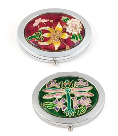 Cloisonne Oval Compact Mirror