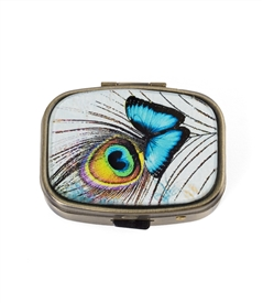 blue butterfly pill box