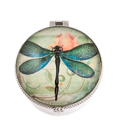 Dragonfly Print Ceramic Keepsake Box