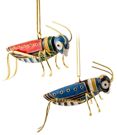 Cloisonne Grass Hopper Ornament