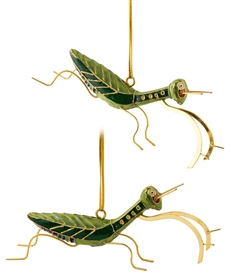 Cloisonne Praying Mantis Ornament