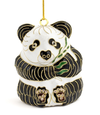 Cloisonne Panda Bear Ornament