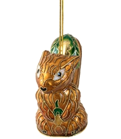 Cloisonne Squirrel Ornament