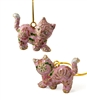 Cloisonne Kitten Ornament