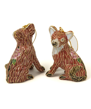Cloisonne Fox Ornament
