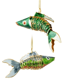 Cloisonne Articulate Fish Ornament