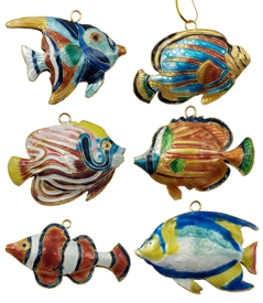 Cloisonne Tropical Fish Ornament