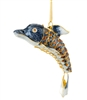 Cloisonne Articulate Dolphin Ornament