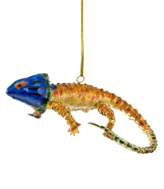 Cloisonne Articulate Lizard Ornament