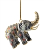 Cloisonne Articulate Elephant Ornament