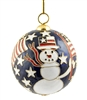 uncle sam snowman Ball Ornament