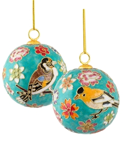 Cloisonne  Floral Ball Ornament
