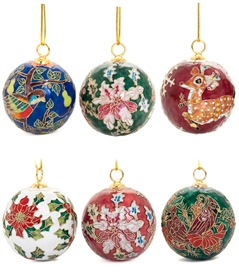 Cloisonne Small Christmas Ball Ornament