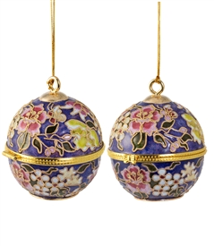 Cloisonne Ball-Shaped Box Ornament