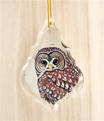 Crystal Owl Ornament