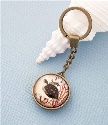 sea turtle key chain