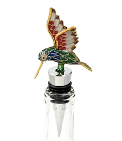 humming bird bottle stopper