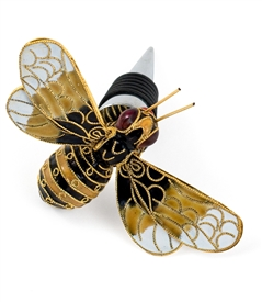 Cloisonne Bumble Bee Bottle Stopper