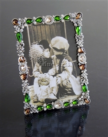 Gem Stone Jeweled Picture Frame
