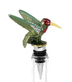 hummingbird bottle stopper