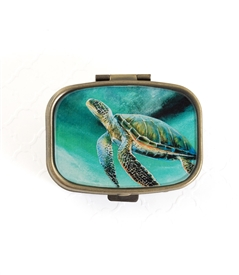 Green sea Turtle Pill Box