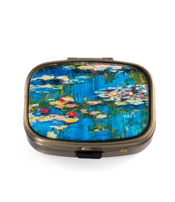 Monet Water Lilies Vintage Looking Pill Box