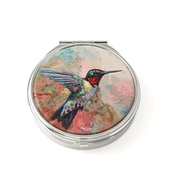 Hummingbird Round Pill Box