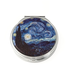 Van Gogh Starry Night Round Pill Box
