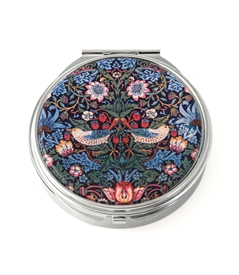 William Morris Strawberry Thief Round Pill Box