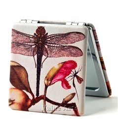 Modern Vintage Dragonfly Travel Mirror