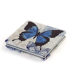 Blue Butterfly Travel Mirror