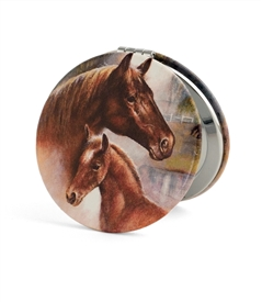 Horse Family Travel Mirror