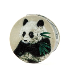 Panda Bear Round Travel Mirror
