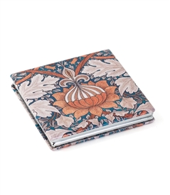 Orange Floral Square Travel Mirror