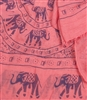 Elephant Print Scarf in Hot Pink
