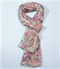 World Map Printed Scarf in Pink
