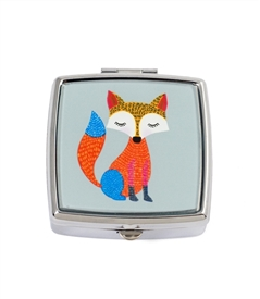 Cute fox square pill box
