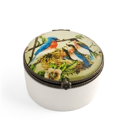 Bird Family Ceramic Keepsake Box