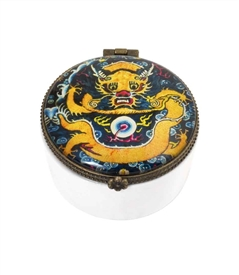 Chinese Dragon Ceramic Keepsake Box