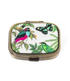 Tropical Bird Pill Box