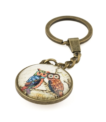 Owl on Branch Key Chain