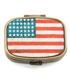 American Flag Pill Box