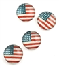 Vintage American Flag Magnet/Set of 4