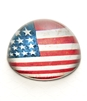 Vintage American Flag Crystal Dome Paperweight