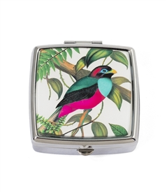 Tropical Bird Square Pill Box
