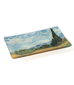 Van Gogh Wheat Field Cypresses Decorative Dish