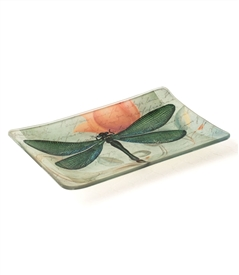 Green Dragonfly Decorative Dish