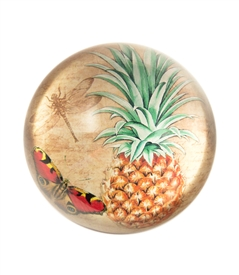 Vintage Pineapple Crystal Dome Paper Weight