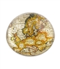 Gold Sparkling Metallic Vintage World  Map Paper Weight